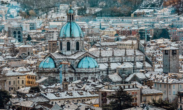 vista sulla città di Como