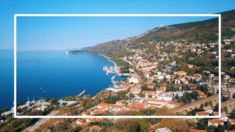 vista di Trieste dall'alto