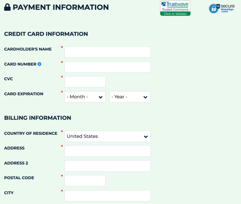 payment information auto europe