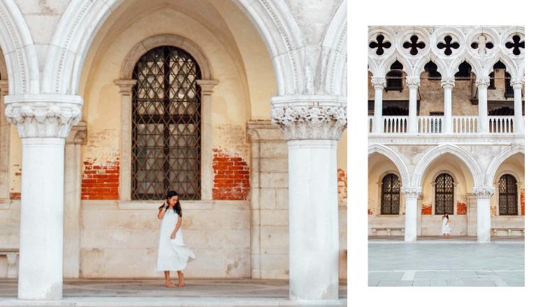 dettaglio palazzo ducale a Venezia