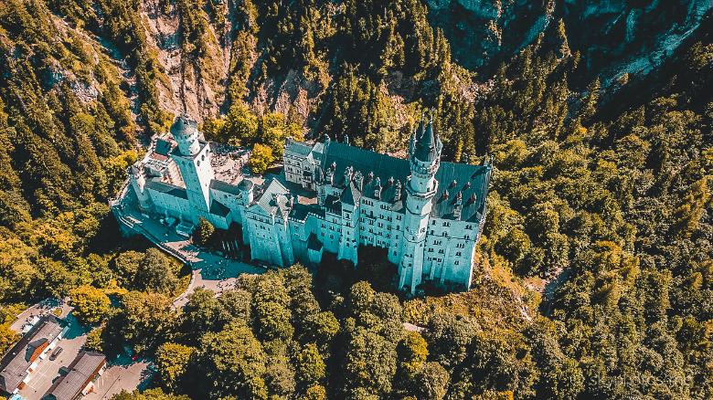 vista castello dall'alto