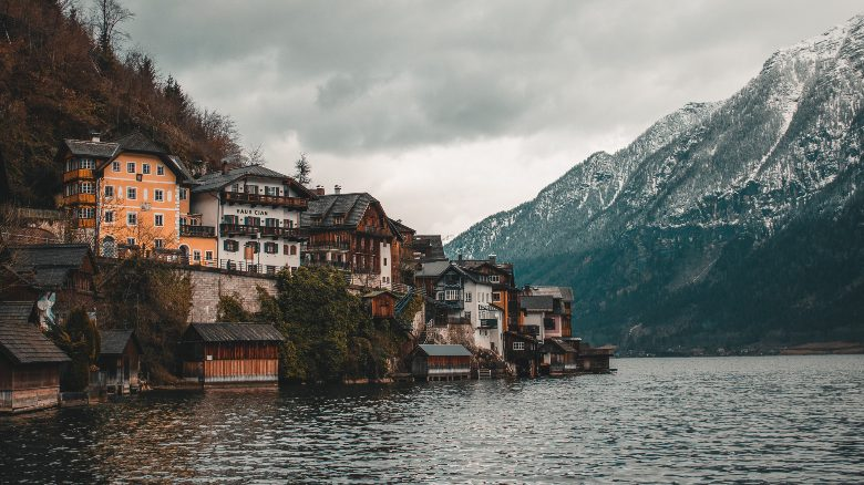 punto panoramico di Hallstatt senza chiesa