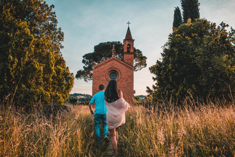 Gite fuori porta in Lombardia: chiesa rossa di Pomelasca