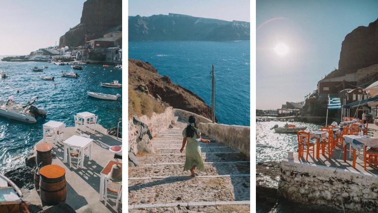 cosa vedere a Santorini: Ammoudi bay