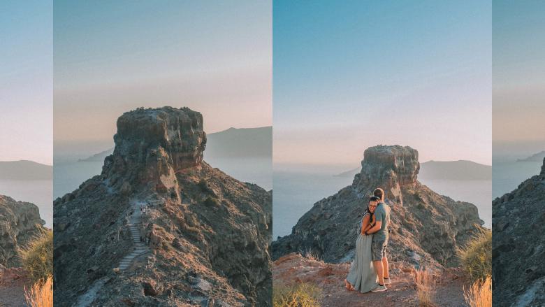 Skaros Rock a Santorini